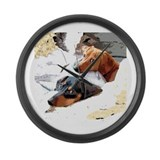 Naptime Love Dachshunds Large Wall Clock
