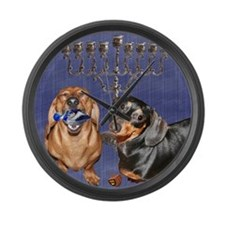 Happy Hanukkah Large Wall Clock