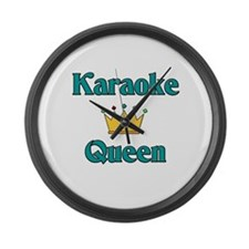 Karaoke Queen Large Wall Clock