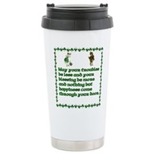 Irish Celtic blessings, sayin Ceramic Travel Mug