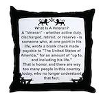 What is a Veteran? Throw Pillow