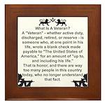 What is a Veteran? Framed Tile