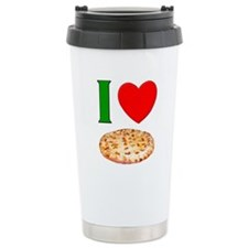 I Love Pizza Ceramic Travel Mug