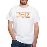 Eat Sleep Hammer Throw White T-Shirt