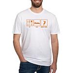 Eat Sleep Hammer Throw Fitted T-Shirt
