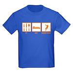 Eat Sleep Hammer Throw Kids Dark T-Shirt