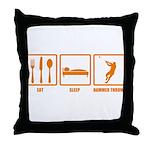Eat Sleep Hammer Throw Throw Pillow