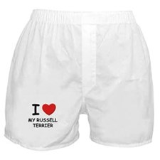 I love MY RUSSELL TERRIER Boxer Shorts
