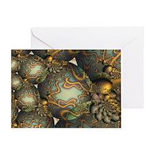 """Encrusted"" Fractal Art Greeting Card"