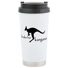 I Brake for Kangaroos Ceramic Travel Mug