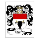 Bouvier Family Crest Small Poster