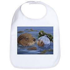 Christmas Otter Bib