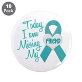 Teal ribbon pins 10 Pack