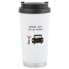 CAUTION NEW LICENSE Ceramic Travel Mug