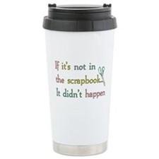 Scrapbooking Facts Ceramic Travel Mug