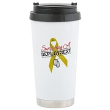Surviving A Deployment Ceramic Travel Mug