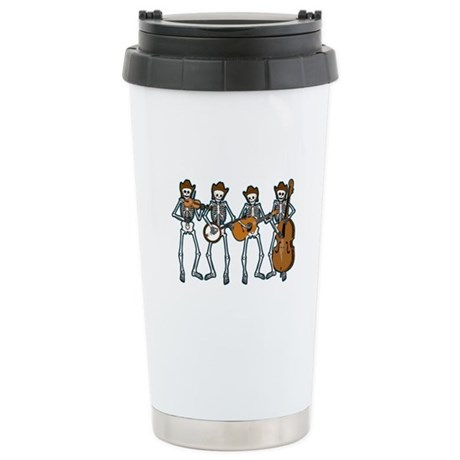 Cowboy Music Skeletons Ceramic Travel Mug