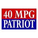 40 MPG Patriot (bumper sticker)
