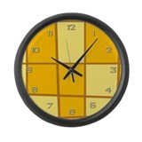 Yellow Grid Large Wall Clock