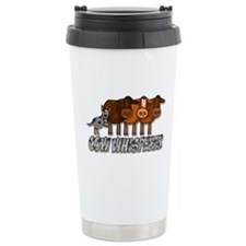 cow whisperer blue heeler Ceramic Travel Mug