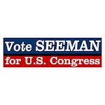 Jeff Seeman for Congress Bumper Sticker