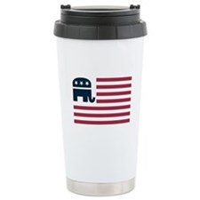 GOP Flag Ceramic Travel Mug