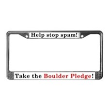 Boulder Pledge License Plate Frame