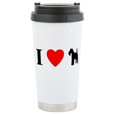 I Heart Wire Fox Terrier Ceramic Travel Mug