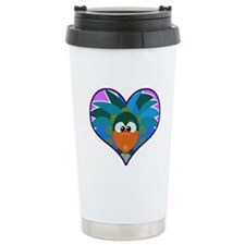 Cute Goofkins Peacock in Hear Ceramic Travel Mug