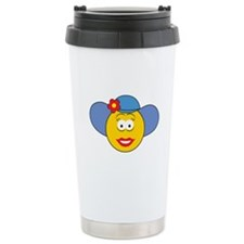 Girl Smiley Face With Hat Travel Mug
