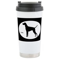 Vizsla Silhouette Ceramic Travel Mug