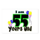 55th Birthday Postcards (Package of 8)