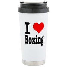 I Heart (Love) Boxing Ceramic Travel Mug