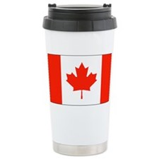 Canada Canadian Blank Flag Stainless Steel Travel