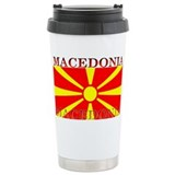 Macedonia Macedonian Flag Travel Mug