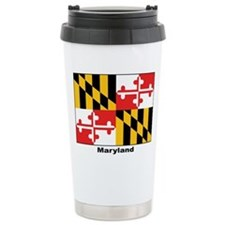 Maryland State Flag Ceramic Travel Mug
