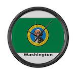 Washington State Flag Large Wall Clock