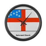 Episcopal Church Flag Large Wall Clock