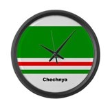 Chechan Chechnya Flag Large Wall Clock