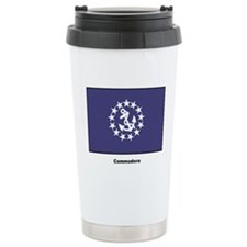 Commodore Flag Ceramic Travel Mug