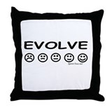EVOLVE light color Throw Pillow