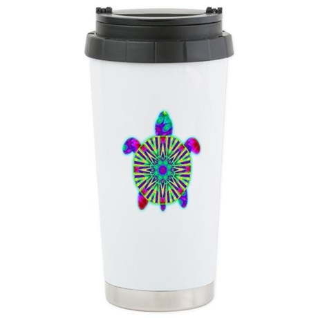 Colorful Sea Turtle Ceramic Travel Mug