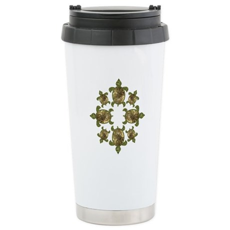 Garden Turtles Ceramic Travel Mug