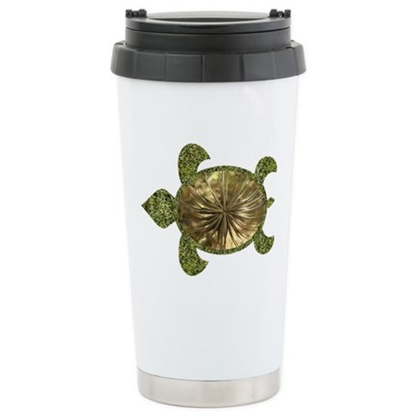 Garden Turtle Ceramic Travel Mug