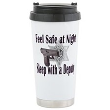 Sleep with a Deputy Ceramic Travel Mug