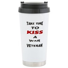 kiss a veteran Ceramic Travel Mug