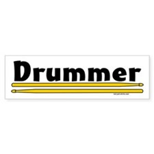 Drummer Bumper Bumper Sticker