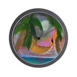 Lazy Flamingo Art Wall Clock