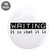 "Writing Is 3.5"" Button (10 pack)"