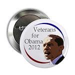 Veterans for Barack Obama 2012 Button